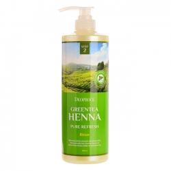 Deoproce Rinse Greentea Henna Pure Refresh - Бальзам для волос с зеленым чаем и хной, 1000 мл
