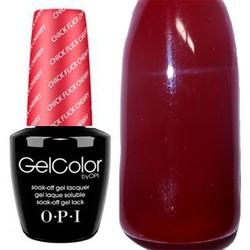 Opi GelColor Chick Flick Cherry, - Гель-лак для ногтей, 15мл