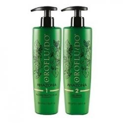 Orofluido Amazonia Set - Набор для глубокого восстановления волос Шаг 1 восстанавливающее масло Reconstruction Oil + Шаг 2 очищающий шампунь на основе масла Rinse Oil
