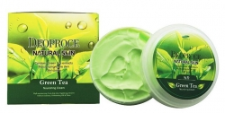 Deoproce Natural Skin Greentea Nourishing Cream - Крем для лица и тела с экстрактом зеленого чая, 100 г