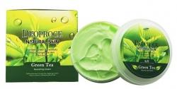 Deoproce Natural Skin Greentea Nourishing Cream - Крем для лица и тела с экстрактом зеленого чая, 100 г