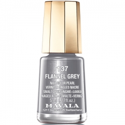 Mavala - Лак для ногтей тон 137 Серебряный шелк/Flannel Grey, 5 мл
