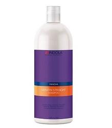Indola Keratin Straight Shampoo – Кератиновое выпрямление шампунь 1500 мл