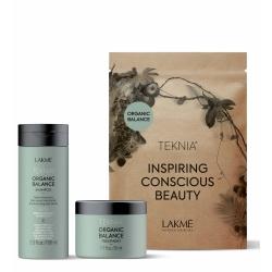 Lakme Teknia Organic Balance Travel Pack - Набор дорожный увлажняющий для всех типов волос (шампунь100 мл, маска 50 мл)