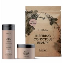 Lakme Teknia Full Defense Travel Pack - Набор дорожный для комплексной защиты волос (шампунь 100 мл, маска 50 мл)