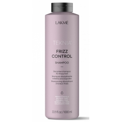 Lakme Teknia Frizz Control - Шампунь бессульфатный дисциплинирующий для непослушных или вьющихся волос, 1000мл