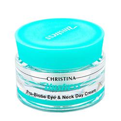 Christina Unstress Probiotic day cream for eye and Neck SPF8 - Дневной крем-пробиотик для кожи век и шеи SPF8 30 мл