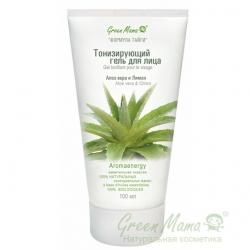 Green Mama Формула тайги - Тонизирующий гель для лица Алоэ Вера и лимон, 100 мл