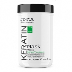 Epica Keratin Pro Mask - Маска для реконструкции и глубокого восстановления волос 1000мл
