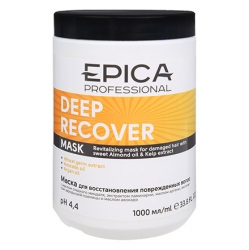 Epica Deep Recover Mask - Маска для восстановления поврежденных волос с маслом сладкого миндаля 1000мл