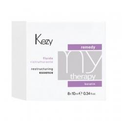 Kezy MyTherapy Remedy Keratin Restructuring Essence - Флюид реструктурирующий с кератином 8*10мл