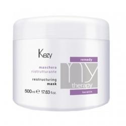 Kezy MyTherapy Remedy Keratin Restructuring Mask - Маска реструктурирующая с кератином, 500мл