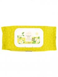The Saem Healing Tea Garden Green Tea Cleansing Tissue - Салфетки очищающие с экстрактом зеленого чая, 60 шт