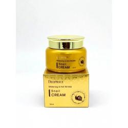 Deoproce Whitening & Anti-Wrinkle Snail Cream - Крем для лица с экстрактом улитки, 100 мл