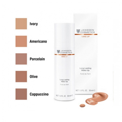 Janssen Secret Look!S Long Lasting Make-Up - Стойкий тональный крем с SPF-12 (олива) 30 мл