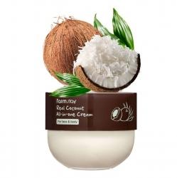 FarmStay Real Coconut All-in-one Cream - Крем многофункциональный с кокосом, 300 мл