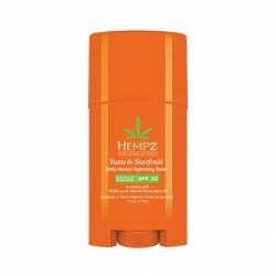 Hempz Yuzu & Starfruit Daily Herbal Hydrating Stick SPF 30  - Бальзам-стик солнцезащитный увлажняющий Юдзу и Карамбола SPF 30, 45 г