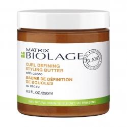 Matrix Biolage R.A.W Curl Defining Styling Butter - Стайлинг-крем с маслом какао для контроля над завитком, 250 мл