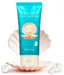 FarmStay White Pearl Peel Off Pack - Маска-пленка очищающая с экстрактом жемчуга, 100 гр