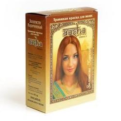"""Краска для волос травяная Aasha Herbals """"Золотисто-Коричневый"""" 6х10г"""