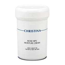 Christina Rose Hips Moisture Cream with Carrot Oil - Увлажняющий крем с маслом шиповника и морковным маслом 250 мл