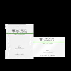 Janssen Peeling and Peel Off Masks Olive-hydration - Альгинатная anti-age ультраувлажняющая маска с маслом оливы, 50г