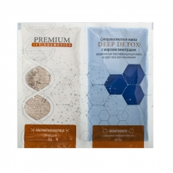 Premium Jet Cosmetics Deep Detox - Маска суперальгинатная с морским виноградом, 20 г и 60 мл