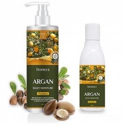 Deoproce Argan Silky Moisture Shampoo - Шампунь для волос с аргановым маслом, 1000 мл