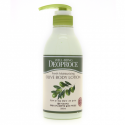 Deoproce Well-Being Fresh Moisturizing Olive Body Lotion - Лосьон для тела с экстрактом оливы, 500 мл