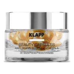 Klapp Beauty Capsules Anti-Aging Serum + Vitamin A - Капсулы для лица с витамином А, 30 шт
