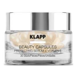 Klapp Beauty Capsules Protecting Serum + Vitamin E - Капсулы для лица с витамином E, 30 шт