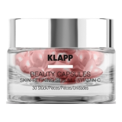 Klapp Beauty Capsules Skin-Refining Serum + Vitamin C - Капсулы для лица с витамином C, 30 шт