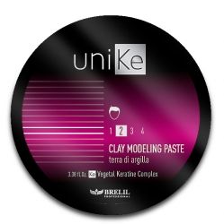 Brelil UniKe Clay Model Paste - Моделирующая глиняная паста для волос, 100мл