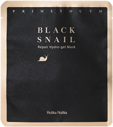 Holika Holika Prime Youth Black Snail Repair Hydro Gel Mask - Гидрогелевая маска с экстрактом муцина черной улитки, 25г