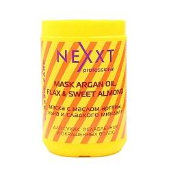 Nexxt Professional Mask with Oil Argan, Flax and Sweet Almond - Маска с маслом арганы, льна и сладкого миндаля, 1000 мл