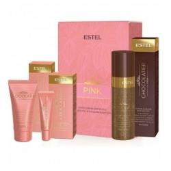 Estel Otium Chocolatier Pink Chocolate Bar - Набор спрей-блеск +бальз/губ клубн + крем клуб