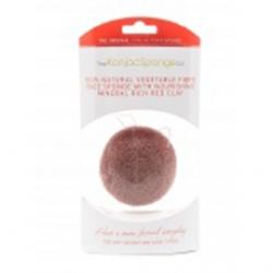 The Konjac Sponge Company Premium Facial Puff with French Red - Спонж для умывания лица с краной глиной