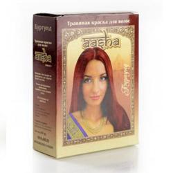 "Краска для волос травяная Aasha Herbals ""Бургунд"" 6х10г"