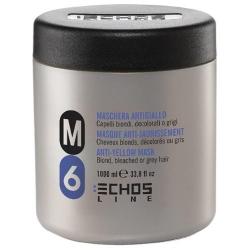 Echos Line M6 Anti-Yellow Mask Blond - Анти-желтая оттеночная маска, 1000 мл
