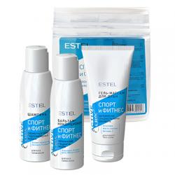 Estel Curex Active Fitness Kit - Набор для волос и тела (шампунь, бальзам, гель-массаж для душа) 3*100мл