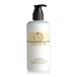 Barex Olioseta Shampoo Silk and Linseed - Шампунь двойного действия с протеинами шёлка и экстрактом семян льна 250 мл