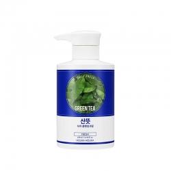 Holika Holika Daily Fresh Green tea Cleansing Cream - Очищающий крем для проблемной кожи, зеленый чай, 430 мл