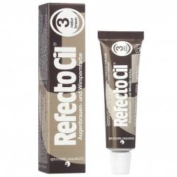 RefectoCil - Краска д/ бровей и ресниц № 3 коричневая, 15 мл