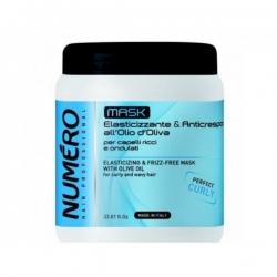 Brelil numero elasticizing mask - Маска для вьющихся волос с оливковым маслом 1000 мл