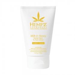Hempz Milk & Honey Herbal Hand & Foot Crème - Крем для рук и ног Молоко и Мёд, 100 мл