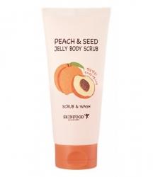 Skinfood Peach Seed Jelly Body Scrub - Гелевый скраб для тела с экстрактом персика, 200 г