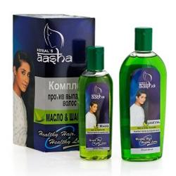 Aasha Herbals Комплекс против выпадения волос 100 мл+200 мл. Общий объем: 300 мл