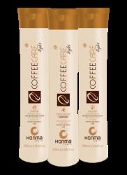 Honma Coffee Care Light - Набор для сухих, ломких и непослушных волос, 3*300 мл