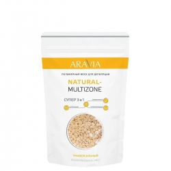 Aravia Professional Natural-multizone - Воск полимерный для депиляции универсальный, 1000 г