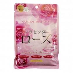 Japan Gals Курс натуральных масок для лица с экстрактом розы, 7 шт